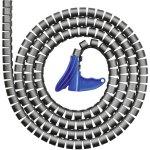 מאגד כבלים (לפלף) אפור - קוטר פנימי 25MM - גליל 2 מטר