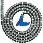 מאגד כבלים (לפלף) שחור - קוטר פנימי 25MM - גליל 2 מטר