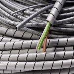 מאגד כבלים (לפלף) תעשייתי אפור - קוטר פנימי 12MM - גליל 25 מטר