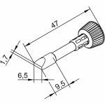 ראש לידית מלחם - ERSA 0102CDLF65L - CHISEL 6.5MM