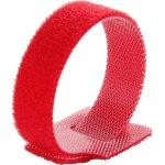 חבילת סרטי קשירה אדומים לכבלים (סקוטש) - 250MM X 16MM