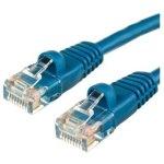 כבל רשת יצוק CAT5E 1M - בידוד כחול