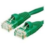 כבל רשת יצוק CAT5E 1M - בידוד ירוק