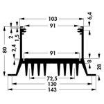 גוף קירור SK 61/100 SA - 143X100X80MM