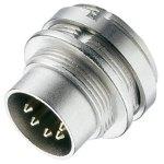 מחבר תעשייתי DIN 0332 - זכר להלחמה לפנל - 3 מגעים