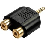 מתאם 3.5MM STEREO PLUG - 2XRCA SOCKETS