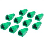 כיסויים להגנה עבור מחברים RJ45 - ירוק