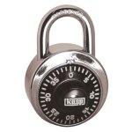 מנעול חוגה 3 ספרות (קומבינציה) - KASP SECURITY - 48MM
