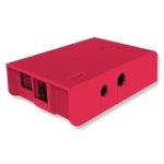 קופסת זיווד אדומה עבור RASPBERRY PI MODEL B