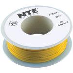 כבל חשמל גמיש לאלקטרוניקה - 26AWG - גליל 7.62 מטר - צהוב