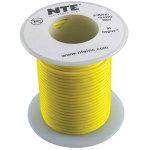כבל חשמל גמיש לאלקטרוניקה - 24AWG - גליל 30.48 מטר - צהוב
