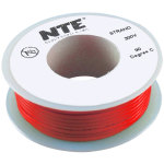 כבל חשמל גמיש לאלקטרוניקה - 22AWG - גליל 7.62 מטר - אדום