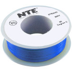 כבל חשמל גמיש לאלקטרוניקה - 18AWG - גליל 7.62 מטר - כחול
