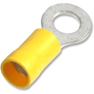 נעל כבל טבעת 4MM - צהוב - 100 יחידות MULTICOMP
