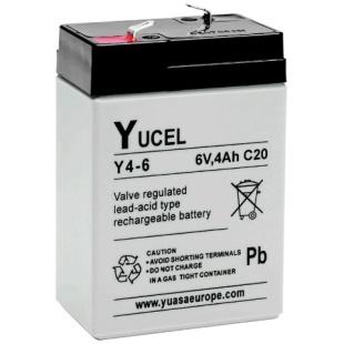 מצבר עופרת נטען - YUCEL Y4-6 - 6V 4AH YUASA