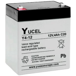 מצבר עופרת נטען - YUCEL Y4-12 - 12V 4AH YUASA