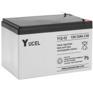 מצבר עופרת נטען - YUCEL Y12-12 - 12V 12AH YUASA