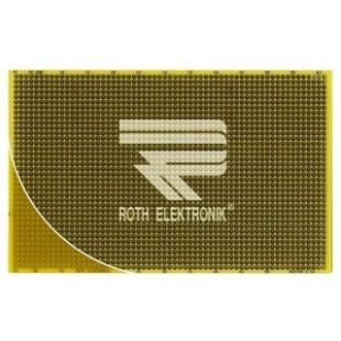 לוח נקודות הלחמה חד צדדי - 100X160MM FR4 ROTH ELEKTRONIK