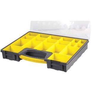 קופסת אחסון לרכיבים עם 22 תאים נשלפים 420X335X62MM DURATOOL