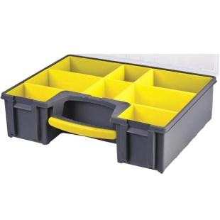 קופסת אחסון לרכיבים עם 8 תאים נשלפים 450X334X115MM DURATOOL
