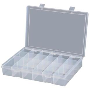 קופסת אחסון לרכיבים 18 תאים 292X186X42MM DURATOOL