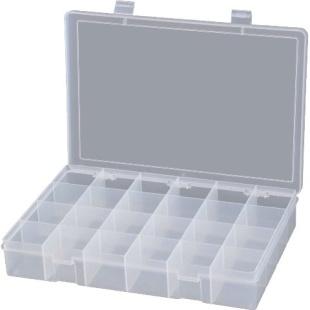 קופסת אחסון לרכיבים 24 תאים 382X235X48MM DURATOOL