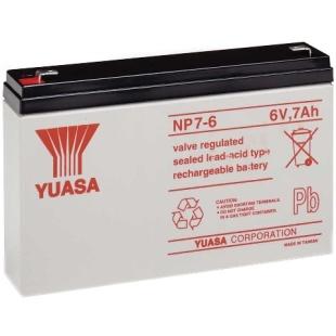 מצבר עופרת נטען - YUASA NP7-6 - 6V 7AH YUASA