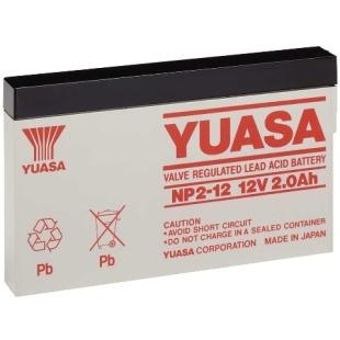 מצבר עופרת נטען - YUASA NP2-12 - 12V 2AH YUASA