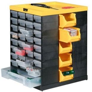 ארונית מסתובבת 76 מגירות לאחסון רכיבים - 462X378X325MM ALLIT