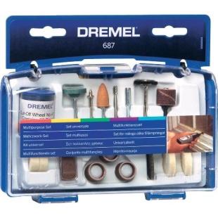 ערכת 52 אביזרים רב תכליתיים למשחזת ציר - DREMEL 687 DREMEL