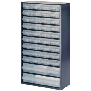 ארונית פלדה לאחסון רכיבים - 40 מגירות - 552X306X150MM RAACO