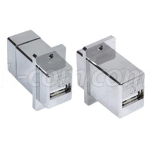 מתאם מסוכך לפנל (USB A (F) - USB A (F L-COM