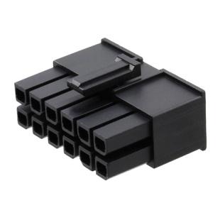 מחבר MOLEX ללחיצה לכבל - סדרת MEGA-FIT - נקבה 12 מגעים MOLEX