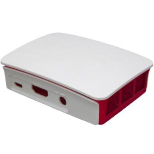 קופסת זיווד PI-CASE עבור RASPBERRY PI 2 - אדום / לבן RASPBERRY PI