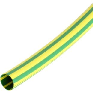 בידוד מתכווץ ירוק / צהוב 19.0MM - לפי 1 מטר PRO-POWER
