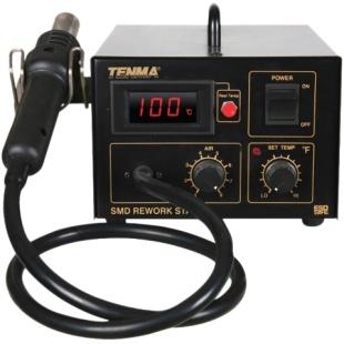 תחנת אוויר חם דיגיטלית מקצועית - TENMA 560W TENMA