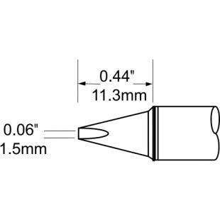 ראש לידית מלחם - METCAL SCV-CH15A - CHISEL 1.5MM METCAL