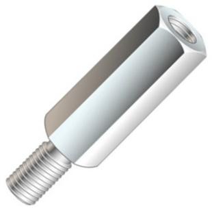 ספייסר משושה מפלדה - זכר/נקבה - M2.5 X 6.1MM ETTINGER