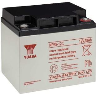 מצבר עופרת נטען - YUASA NP38-12I - 12V 38AH YUASA