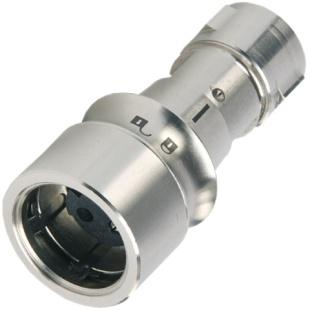 מחבר תעשייתי PXM6010 - זכר להברגה לכבל - פין נקבה - 3 מגעים BULGIN