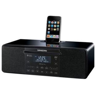 רדיו שולחני דיגיטלי עם תחנת עגינה לאייפון SANGEAN DDR-43 - 4/4S SANGEAN