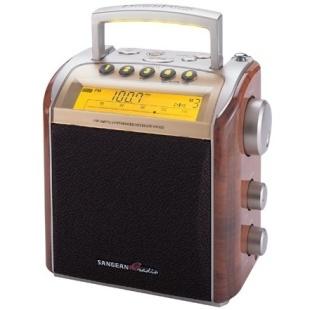רדיו שולחני / נייד דיגיטלי בעיצוב ישן - SANGEAN PR-D2 SANGEAN