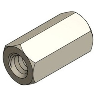 ספייסר משושה פלסטיק נקבה/נקבה M3 X 8MM DURATOOL