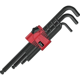 סט מפתחות אלן כדורי מ''מ - WERA 950 PKL/9 BM N WERA
