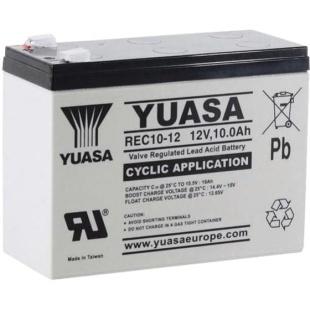 מצבר עופרת נטען - YUASA REC10-12 - 12V 10AH YUASA