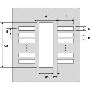 שבלונת הלחמה לרכיבים MSOP-12 , 0.65MM PITCH - SMD PROTO ADVANTAGE