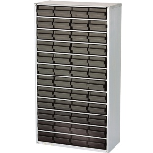 ארונית אנטי סטטית לאחסון רכיבים - 48 מגירות - 552X306X150MM RAACO