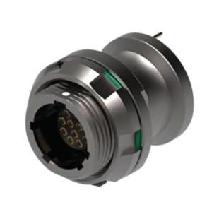 מחבר FISCHER - נקבה לפנל - 12 מגעים - UR02W11 F012P BK1 E1AB FISCHER CONNECTORS