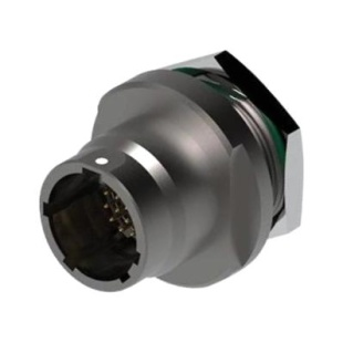מחבר FISCHER - נקבה לפנל - 2 מגעים - UR03W07 F002S BK1 E2NB FISCHER CONNECTORS