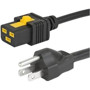 כבל חשמל יצוק עם נעילת 2M , IEC C19 ~ US PLUG - V-LOCK SCHURTER